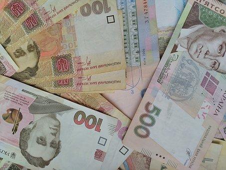 Money, Cash Money, Hryvnia, Ukrainian Hryvnia, Bill