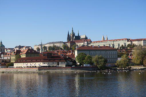 Prague, Autumn, Vltava, City, Czech Republic, Landscape
