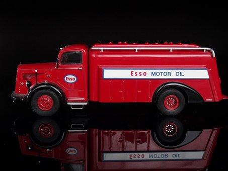 Model Car, Car Model, Tank Truck, Mercedes, L 6600