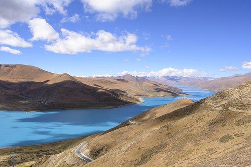 Highland, Mountain Lake, Sky, Landscape, Nature