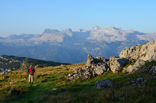 Dachstein, Mountains, View, Outlook, Alpine, Hike