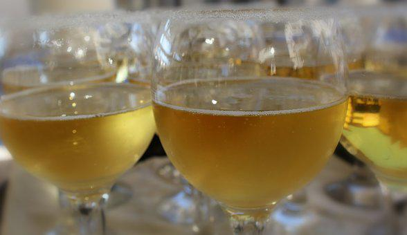 Mugs, Champagne, Glass, Shine, Luxury, Fluid, Gold