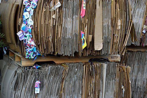 Recycle Cardboard, Paper, Recycling, Texture, Old
