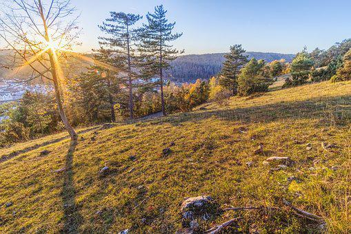 Sunset, Mountain, Riedenburg, Hiking, Trail, Beautiful