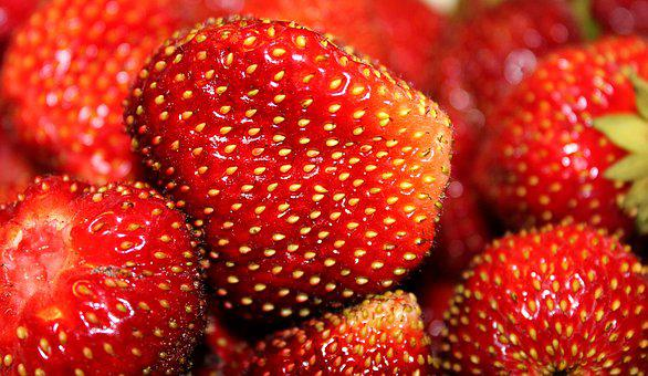 Strawberry, Seeds, Berry, Ripe, Red, Food, Vitamins