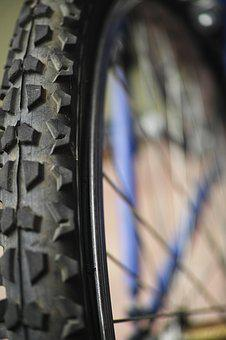 Bicycle, Wheel, Rubber, Circle, Texture, Old, Speed