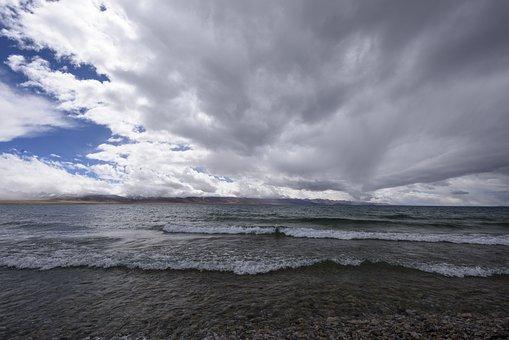 Salted Water Lake, Cloud, Lake, Nature, Wave, Travel