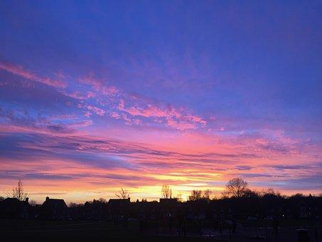 Sky, Sunset, Nature, Orange, Bright, Cloud, Horizon