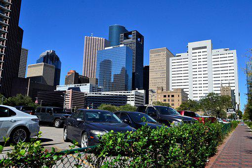 Office Buildings, Skyline, Houston, Texas, Business
