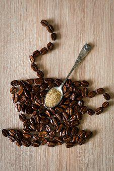 Coffee Beans, Coffee Cup, Spoon