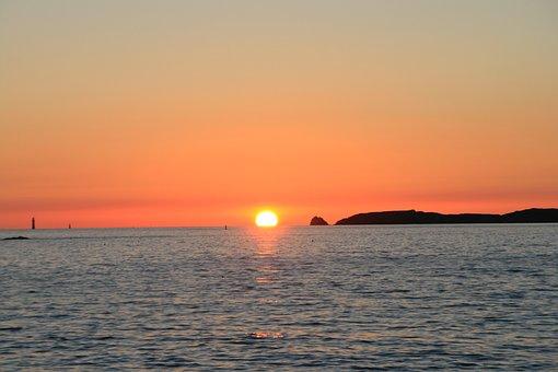 Sun, Sunset, Sea, Summer, Landscape, Nature Sunset, Sky
