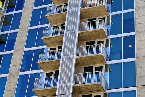 Hotel Exterior, Terraces, Windows, High-rise, High