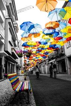 Umbrella, Color, Street, Colors, Urban, Tourist