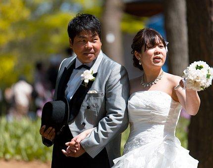 Wedding Couple, White Dress, Portrait Wedding