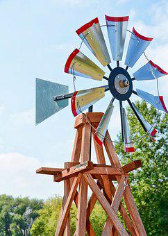 Windmill, Outdoor, Summer, Historic, Agriculture