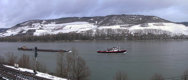 Rhine Valley, Winter, Middle Rhine Valley