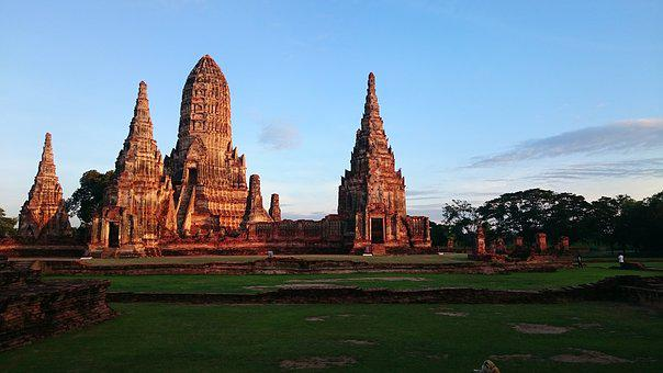 The Old Temple, Ayutthaya, Measure, Thailand, Ancient