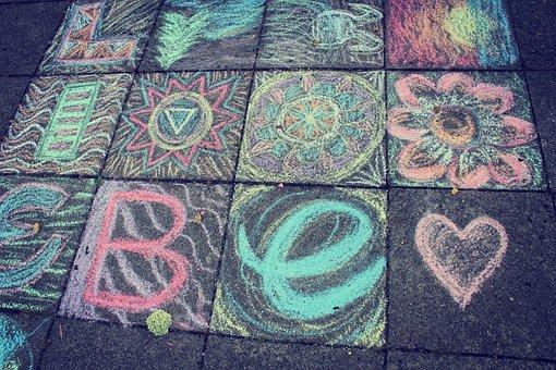 Chalk, Street Chalk, Paint, Child, Play, Chalk Drawing