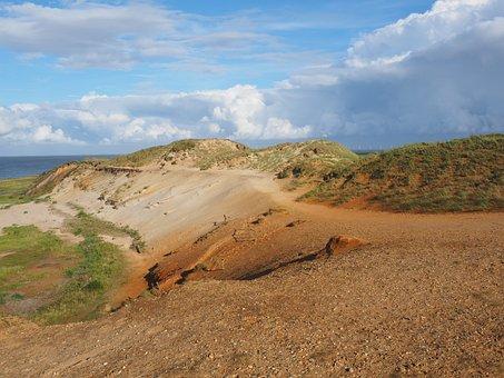 Morsum-kliff, Cliff, Sand Stone, Sand, Colorful, Color