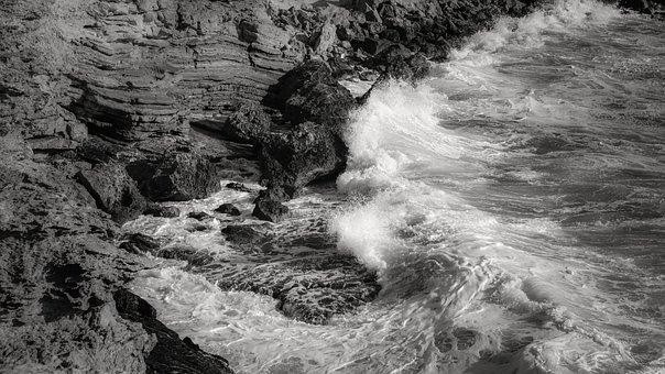Rocky Coast, Sea, Wave, Nature, Erosion