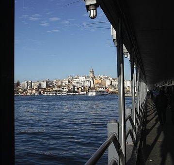 Landscape, Estuary, Galata, Galata Tower, Galata Bridge
