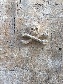 Camino Santiago, Church, Skull, Facade, Death, Building