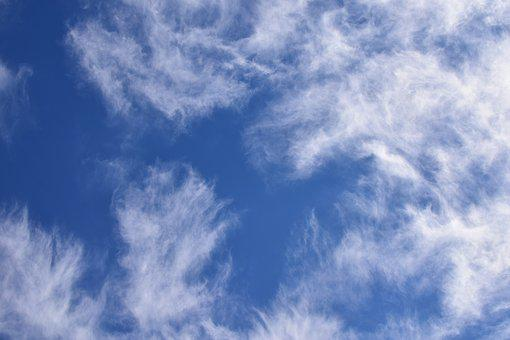Fascinating Wispy Clouds, Cloudscape, Skyscape, Nature
