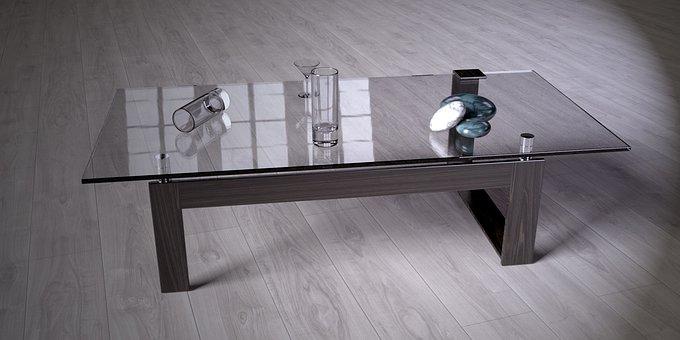 Glass Table, Furniture, Live, Setup, Design