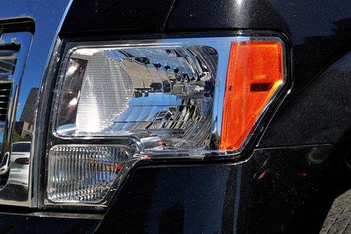 Ford F150, Headlamp, Light, Grill, Pick Up Truck, F-150