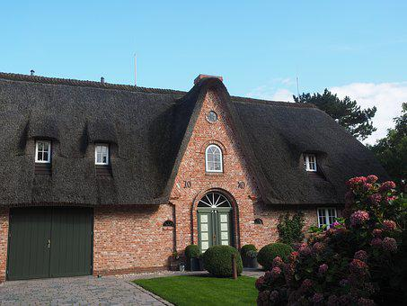 Friesenhaus, Home, Thatched Roof, Input, Front Door