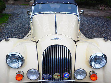 Morgan Plus 8, Auto, Grille, Lights, Lighting, Hood
