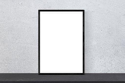 Poster, Mockup, Frame, Presentation, Desk, Interior