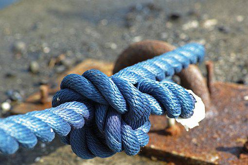 Blue, Rope, Connect, Old, Macro, Node, Close