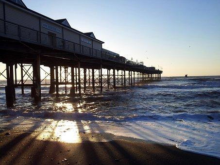 Teignmouth, Pier, Beach, Uk, English, England, Devon