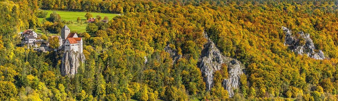 Castle Prunn, Riedenburg, Castle, Forest, Autumn