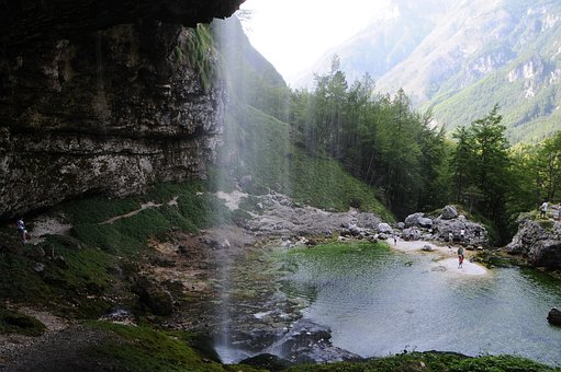 Nature, Water, Waterfall, Lake, Mountain, Rocks