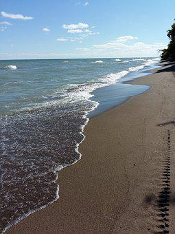 Beach, Water, Sand, Point Pelee National Park, Ontario