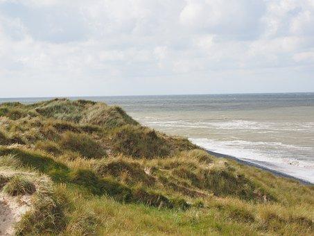 Sylt, Dunes, Dune Landscape, Marram Grass, Sea, Water