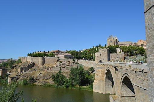 The City Of Toledo, Spain, Bridge, Tourist, Europe