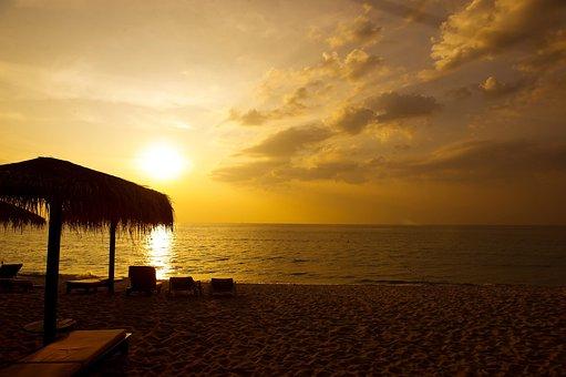 Thailand, Phuket, Glow, Sunset, Sea, Nature, Landscape