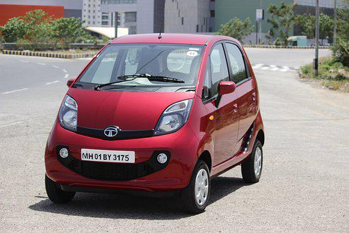 Tata Nano, Car, Red Car, India, Tata Motors