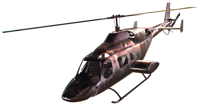 Helicopter, Render, 3d, Rendering, Technology, Steel