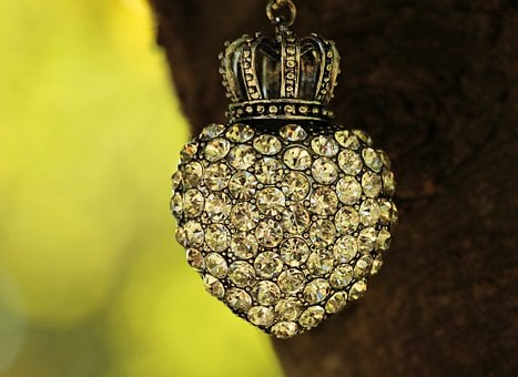 Heart, Crown, Tree, Rhinestone, Rhinestones