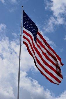 American Flag, Usa, Symbol, Flag, American, National