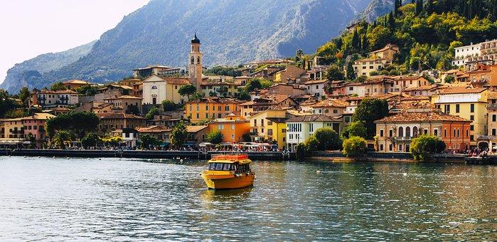 Limone, Garda, Holiday, Italy, Brescia, Lombardy, Port