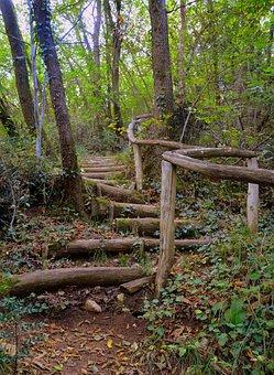 Stairs, Wood, The European Path, E5, Val Borago, Avesa