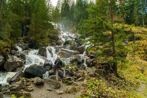 Kleinwalsertal, Waterfall, Melköde, Alpe, Stones, Water