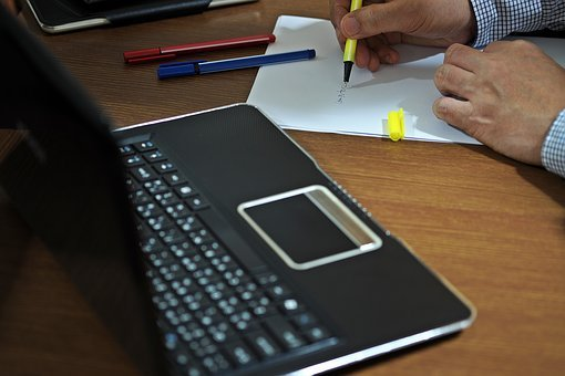 Work, Desk, Office, Business, Computer, Table, White