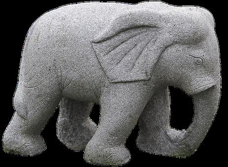Elephant, Stone Figure, Sculpture, Artwork, Sculptor
