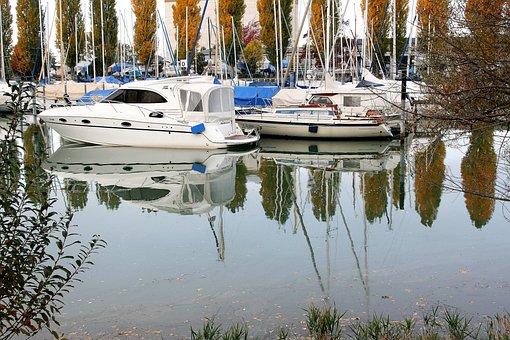 Marina, Water Surface, Lake, Autumn, Morning, You Have